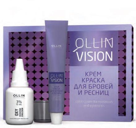 Ollin Крем-краска для бровей и ресниц Vision