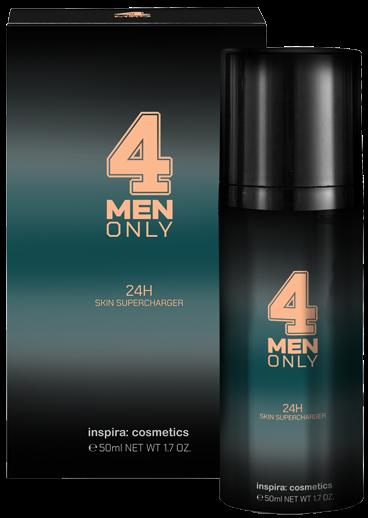 Inspira 4 Men Only Легкий укрепляющий крем для лица 24-часового действия Supercharger