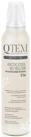 QTEM Мусс реконструктор для волос Arctic Cool No Yellow