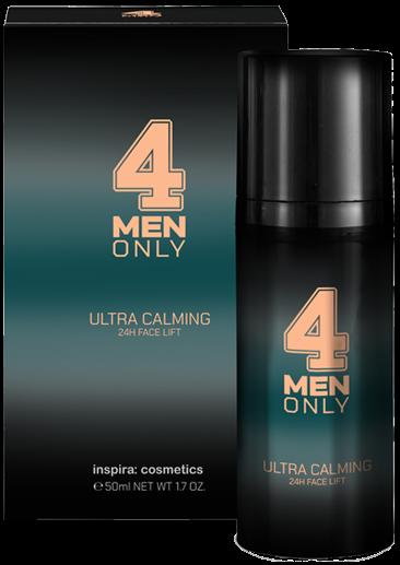 Inspira 4 Men Only Успокаивающий лифтинг-крем для лица 24-часового действия Ultra Calming