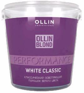 Ollin Performance Классический осветляющий порошок белого цвета