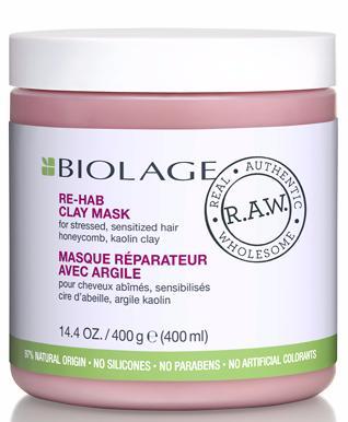Matrix Biolage RAW RE-HAB Детокс-маска восстанавливающая с каолиновой глиной и мёдом