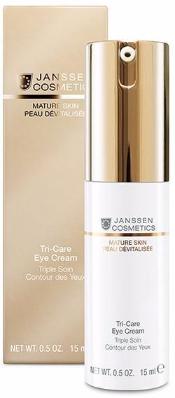Janssen Mature Skin Омолаживающий укрепляющий крем для контура глаз Tri-Care Eye Cream