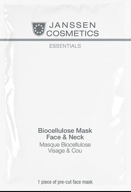 Janssen Увлажняющая лифтинг-маска для лица и шеи Biocellulose Mask Face Neck