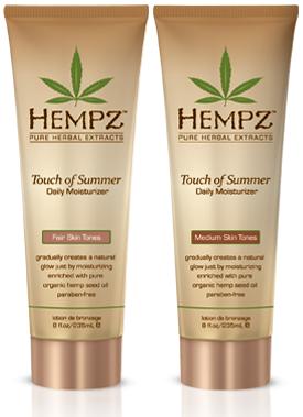 Hempz Молочко для тела с бронзантом светлого оттенка Touch of Summer