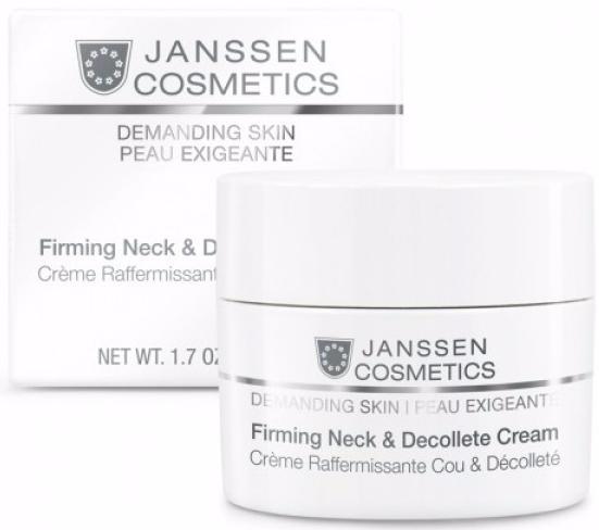 Укрепляющий крем для кожи лица шеи и декольте Firming Cream Janssen Demanding Skin