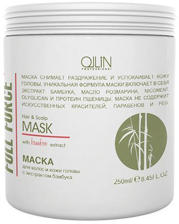 Ollin Full Force Маска для волос и кожи головы с экстрактом бамбука