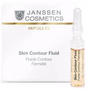 Anti-age лифтинг-сыворотка в ампулах с пептидами стимулирующими синтез эластина Skin Contour Fluid Janssen