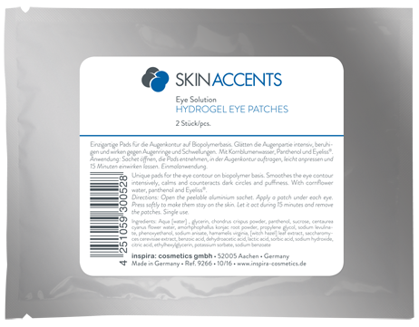 Inspira Skin Accents Патчи с гидрогелем для кожи вокруг глаз Hydrogel Eye Patches