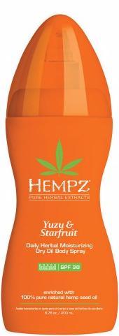 Hempz Масло-спрей солнцезащитное увлажняющее для тела Юдзу и Карамбола SPF 30