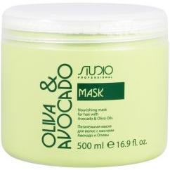 Kapous Olive and Avocado Маска увлажняющая для волос с маслами авокадо и оливы