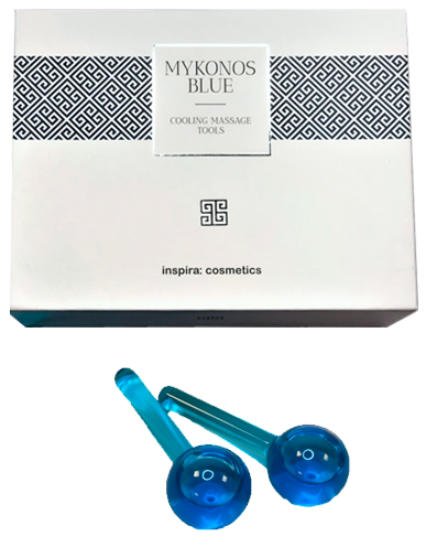 Inspira Mykonos Blue Охлаждающие стеклянные шарики для массажа Cooling Massage