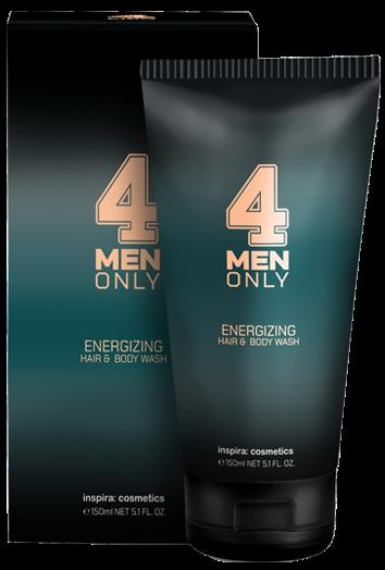 Inspira 4 Men Only Тонизирующий очищающий гель для волос и тела Energizing