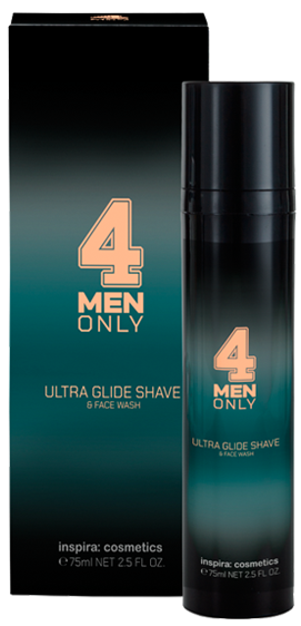 Inspira 4 Men Only Ультрамягкий гель-крем для умывания и бритья Ultra Glide