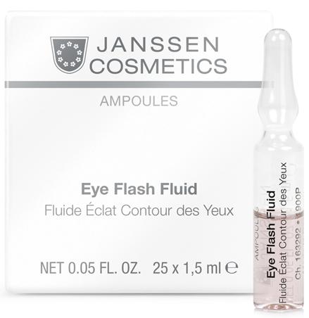 Janssen Увлажняющая и восстанавливающая сыворотка в ампулах для контура глаз Eye Flash Fluid