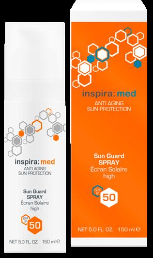 Inspira Med Солнцезащитный лосьон-спрей SPF 50 Sun Guard