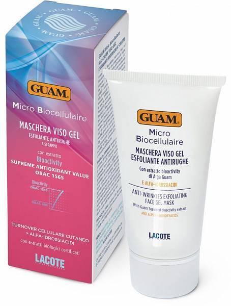 Guam Маска плёночная для лица отшелушивающая омолаживающая Micro Biocellulaire