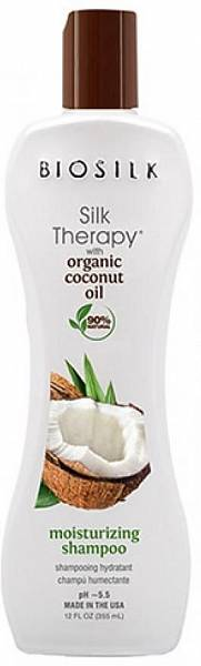 Biosilk Silk Therapy Organic Coconut Oil Шампунь увлажняющий