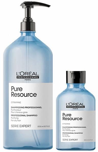 Loreal Pure Resource Очищающий шампунь для жирных волос и кожи головы