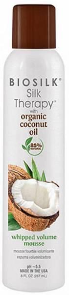 Biosilk Silk Therapy Organic Coconut Oil Мусс для укладки Whipped Volume