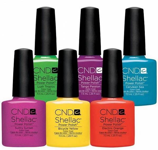 CND Shellac Гелевое цветное покрытие для ногтей