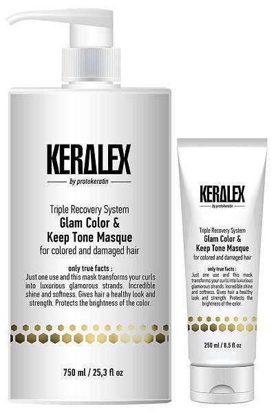 Protokeratin Маска дуо-сияние и защита цвета Keralex Glam Color & Keep Tone Masque