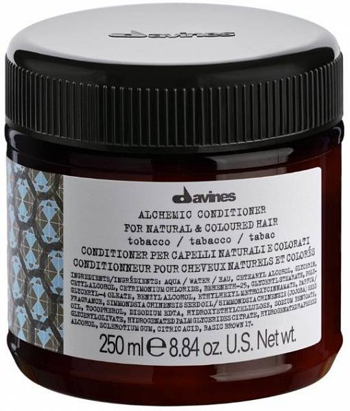 Davines Alchemic Кондиционер для натуральных и окрашенных волос (табак)