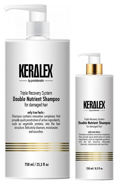 Protokeratin Шампунь дуо-питание высокоинтенсивный Keralex Double Nutrient Shampoo