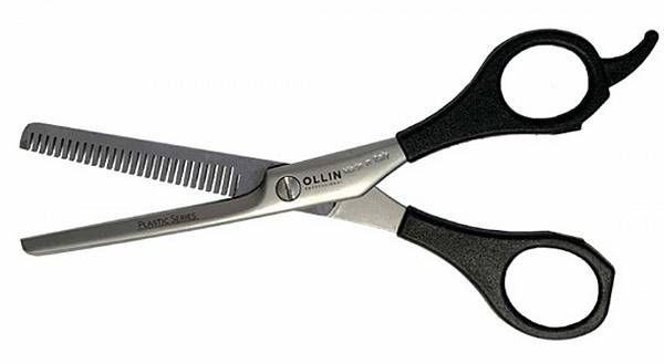 Ножницы PLASTIC SERIES филировочные с пластиковыми ручками H46 60 35 зубцов Ollin Professional
