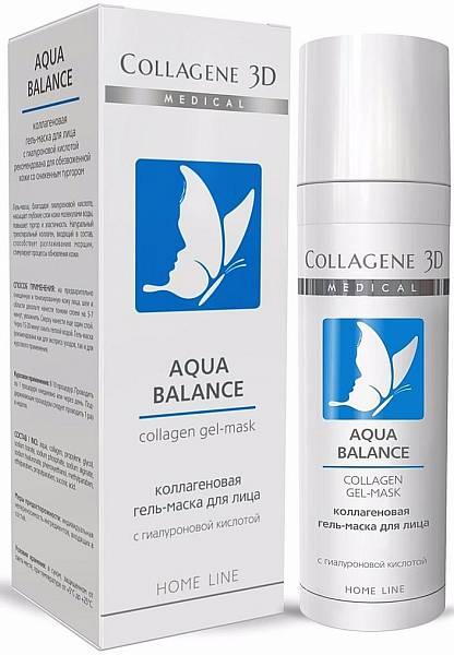 Medical Collagen 3D Гель-маска с гиалуроновой кислотой Aqua balance