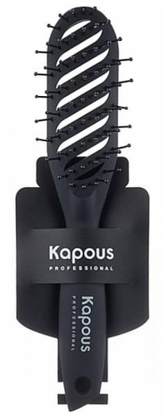 Kapous Эргономичная щетка с покрытием Soft Touch
