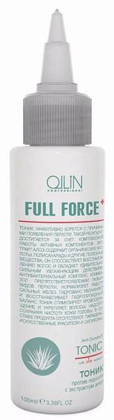 Ollin Full Force Тоник против перхоти с экстрактом алоэ