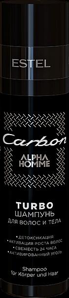 Estel Alpha Homme Carbon TURBO-шампунь для волос и тела