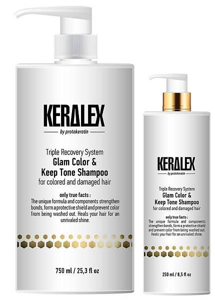 Protokeratin Шампунь ДУО-сияние и защита цвета Keralex Glam Color & Keep Tone Shampoo