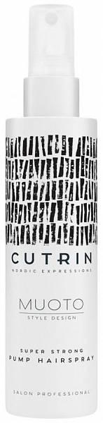 Cutrin MUOTO Лак - спрей экстрасильной фиксации Super Strong Pump Hairspray