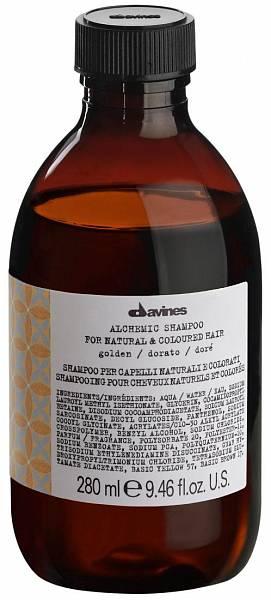 Davines Alchemic Шампунь для натуральных и окрашенных волос (золотой)