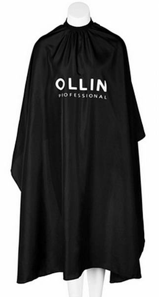 Ollin Professional Пеньюар для стрижки на крючках чёрный