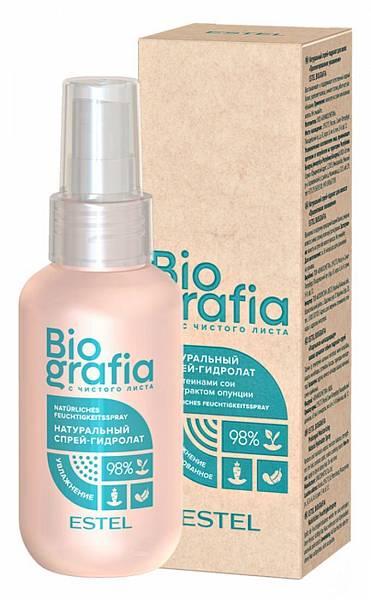 Estel Biografia Натуральный спрей-гидролат для волос Пролонгированное увлажнение