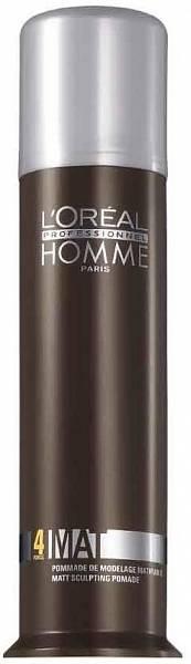 Loreal Homme Матирующая крем-паста для укладки волос Mat 4