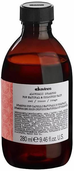 Davines Alchemic Шампунь для натуральных и окрашенных волос (красный)