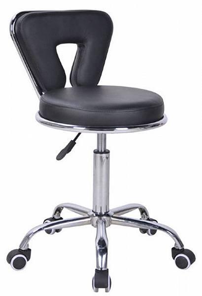Ollin Professional Стул парикмахерский со спинкой чёрный