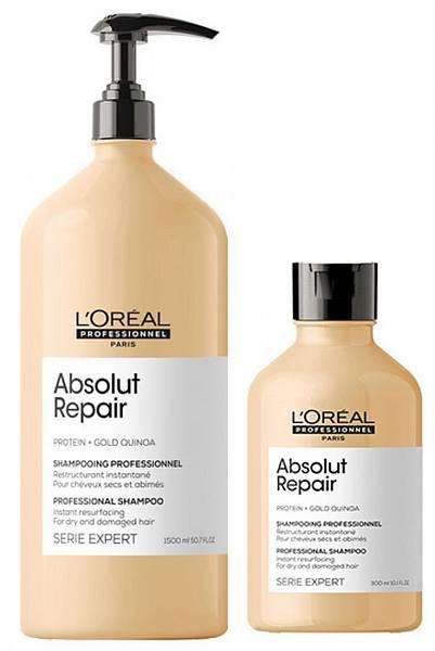 Loreal Absolut Repair Lipidium Шампунь для глубокого восстановления волос Gold