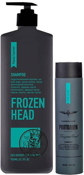 Protokeratin ProtoMen Крио-шампунь мужской для душа Frozen Head