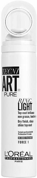 Loreal TecniArt Спрей для придания блеска волосам Ring Light Pure