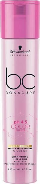 Schwarzkopf BC pH 4.5 Color Freeze Мицеллярный шампунь для волос с блестящим золотистым оттенком