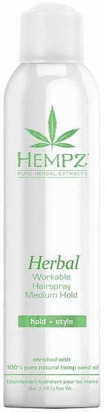 Hempz Лак растительный для волос средней фиксации