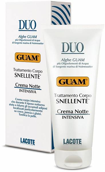 Guam Крем для уменьшения объёмов тела ночной Duo