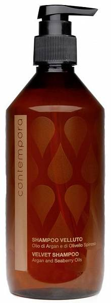 Barex Contempora Разглаживающий шампунь «Сияющий бархат» Масло Арганы и Облепихи