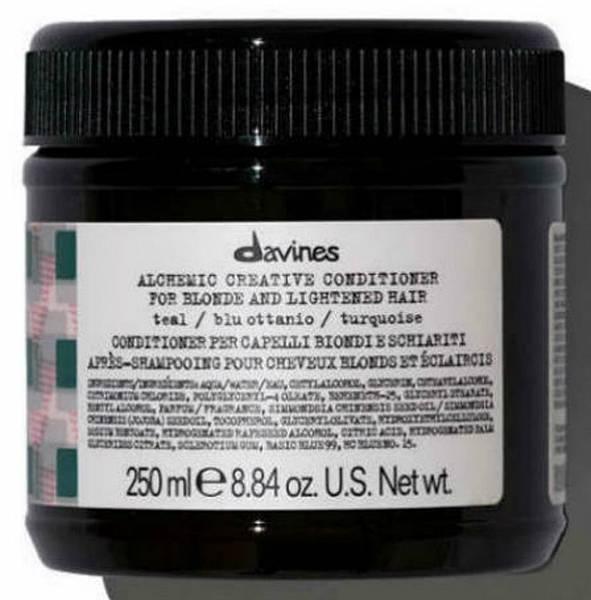 Davines Alchemic Креативный кондиционер для осветленных и натуральных блондов оттенок (морская волна)