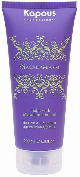 Kapous Macadamia Oil Бальзам с маслом ореха макадамии